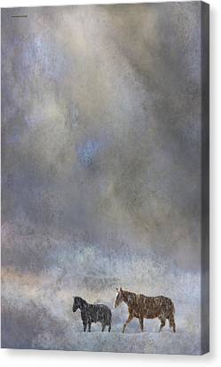 Going To Barn Canvas Print by Ron Jones