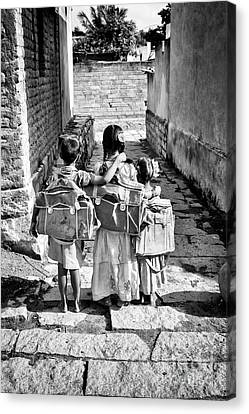 Schooling Canvas Print - Going To School by Tim Gainey