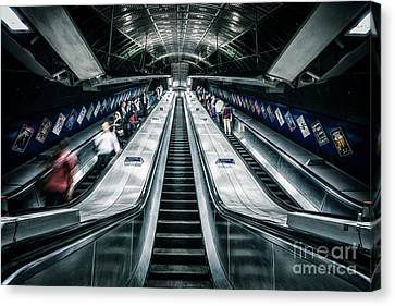 London Tube Canvas Print - Going Underground by Evelina Kremsdorf
