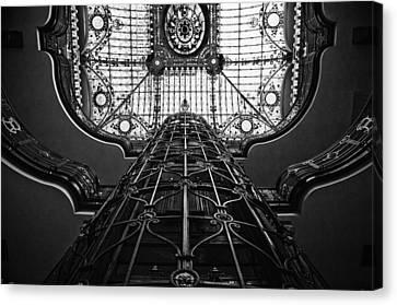 Canvas Print featuring the photograph Going Up by John Bartosik