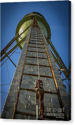 Going Up Mary Leila Cotton Mill Water Tower Art Canvas Print by Reid Callaway