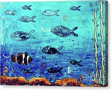 Clown Fish Canvas Print -  Going Your Own Way by Callan Percy