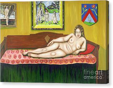 Gok With Munch And Cezanne Canvas Print by Neil Trapp