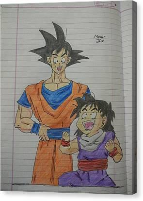 Goku And Gohan Canvas Print