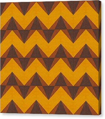 Gold And Brown Chevron Collage  Canvas Print by Michelle Calkins