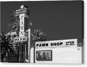 Gold And Silver Pawn Shop Canvas Print