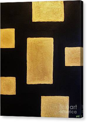 Mix Medium Canvas Print - Gold Bars by Marsha Heiken