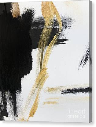 Gold Black And White Modern Abstract Canvas Print by WALL ART and HOME DECOR