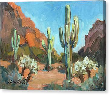 Canvas Print featuring the painting Gold Canyon by Diane McClary