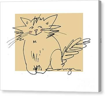 Gold Cat Canvas Print