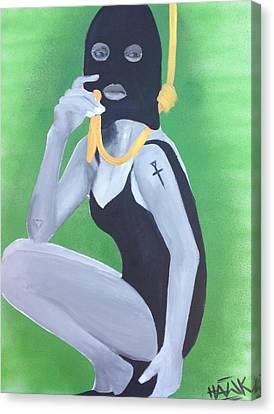 Gold Chain Canvas Print by Rinalds Vanadzinsh