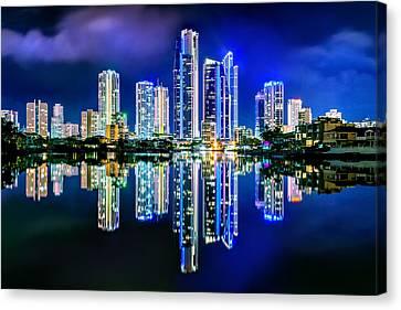 Gold Coast Reflections Canvas Print by Az Jackson