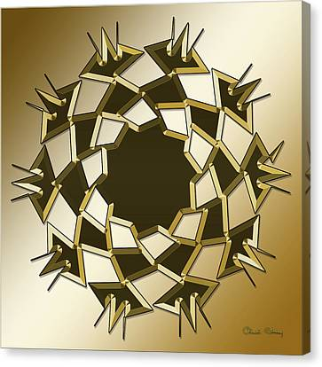 Canvas Print featuring the digital art Gold Coffee 10 by Chuck Staley
