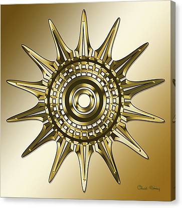 Canvas Print featuring the digital art Gold Coffee 11 by Chuck Staley
