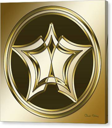 Canvas Print featuring the digital art Gold Coffee 12 by Chuck Staley