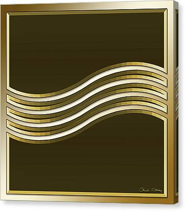 Canvas Print featuring the digital art Gold Coffee 8 by Chuck Staley