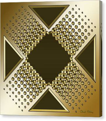 Canvas Print featuring the digital art Gold Coffee 9 by Chuck Staley
