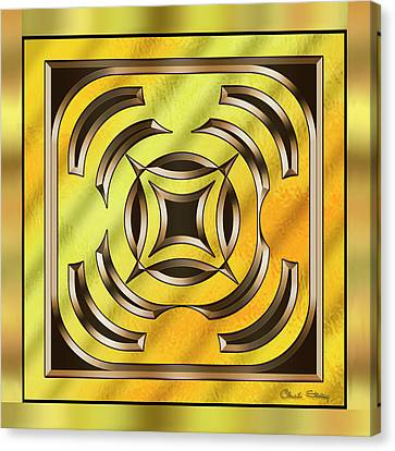 Gold Design 23 - Chuck Staley Canvas Print by Chuck Staley