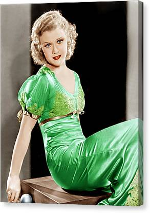 Gold Diggers Of 1933, Ginger Rogers Canvas Print by Everett