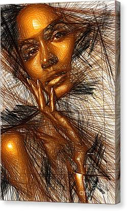 Gold Fingers Canvas Print by Rafael Salazar