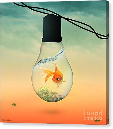 Kids Room Art Canvas Print - Gold Fish 4 by Mark Ashkenazi