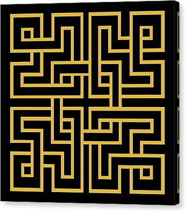 Pattern Canvas Print - Gold Geo 6 by Chuck Staley