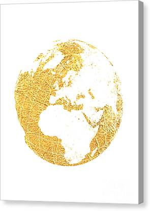 Gold Globe Canvas Print by Jennifer Mecca