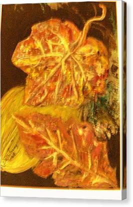 Gold Gold Gold Canvas Print by Anne-Elizabeth Whiteway