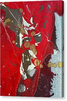 gold inhaling Jaffar Canvas Print by Gyula Julian Lovas