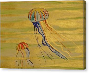 Gold Jellies Canvas Print by Erika Swartzkopf