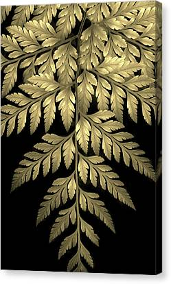Gold Leaf Fern Canvas Print