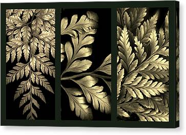 Gold Leaf Triptych Canvas Print