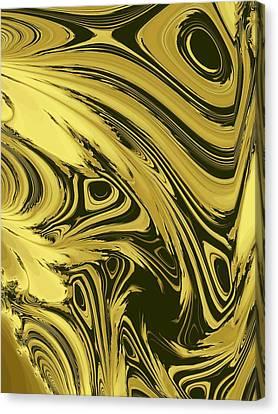 Gold Marble Canvas Print by Kathleen Sartoris