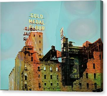 Canvas Print featuring the photograph Gold Medal Flour Pop Art by Susan Stone