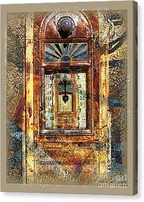 Gold Mine Gas Pump Canvas Print by Chuck Brittenham