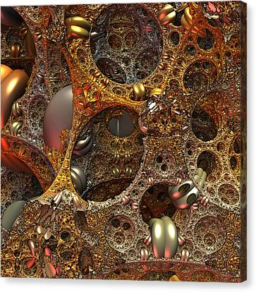 Canvas Print featuring the digital art Gold Mine by Lyle Hatch