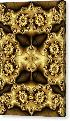Gold N Brown Phone Case Canvas Print