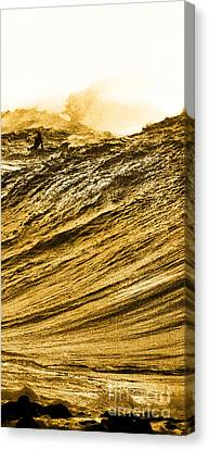 Gold Nugget -  Part 3 Of 3 Canvas Print by Sean Davey