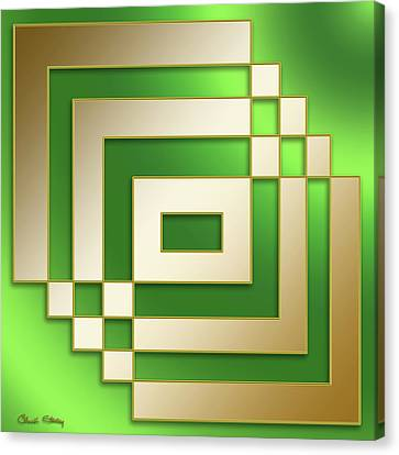 Gold On Green - Chuck Staley Canvas Print by Chuck Staley