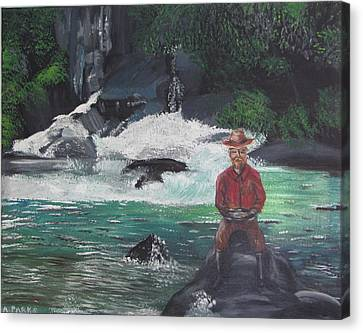 Gold Panning Canvas Print