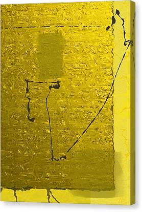 Gold Parchment Canvas Print