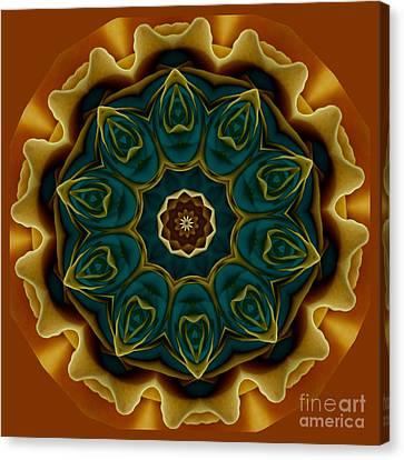 Gold Rose Mandala Canvas Print
