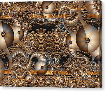 Canvas Print featuring the digital art Gold Rush by Robert Orinski