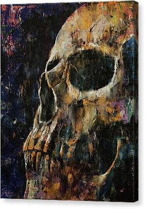 Gold Skull Canvas Print by Michael Creese