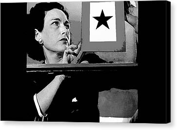 Gold Star Mother Canvas Print - Gold Star Mother Mrs Harry B. England 1942 Color Added 2016 by David Lee Guss
