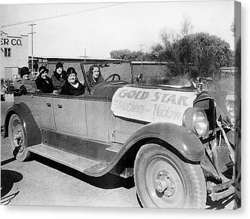 Gold Star Mother Canvas Print - Gold Star Mothers And Widows Ww1 Armistice Parade Tucson Arizona 1932 by David Lee Guss