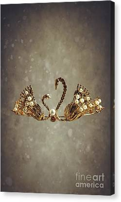 Gold Swans Tiara Canvas Print