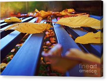 Canvas Print featuring the photograph Gold Topped Table by Isabella F Abbie Shores FRSA