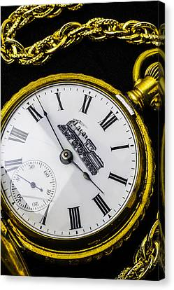Gold Train Watch Canvas Print by Garry Gay