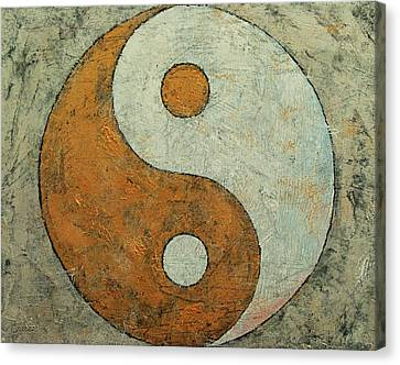 Gold Yin Yang Canvas Print